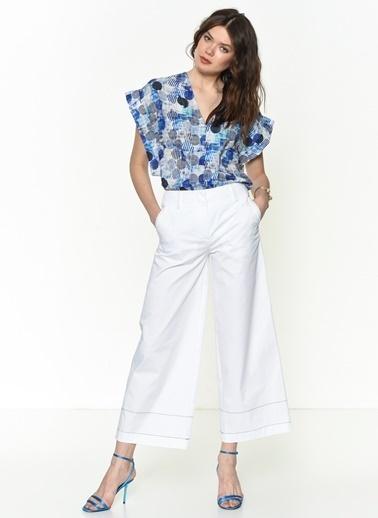 Si Design Pantolon Beyaz